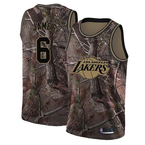 Lakers #6 LeBron James Camo Basketball Swingman Realtree Collection Jersey