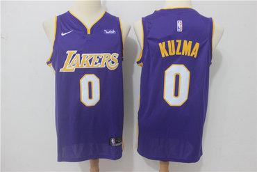 Lakers 0 Kyle Kuzma Purple Nike Swingman Jersey