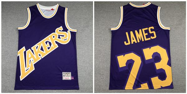 Lakers 23 Lebron James Purple Hardwood Classics Jersey