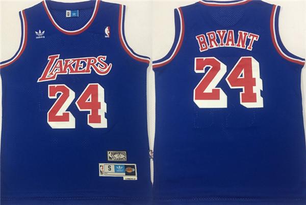 Lakers 24 Kobe Bryant Blue Hardwood Classics Mesh Jersey