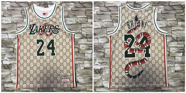 Lakers 24 Kobe Bryant Gray Printed Hardwood Classics Jersey