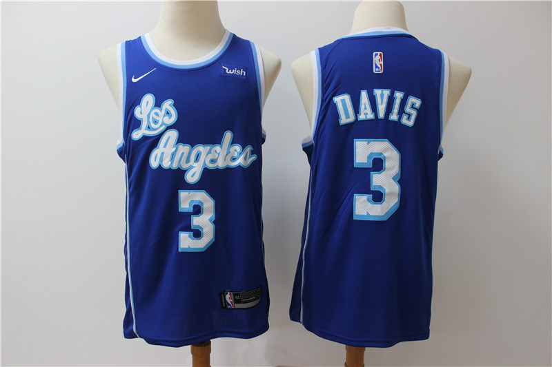 Lakers 3 Anthony Davis Blue Nike Swingman Jersey