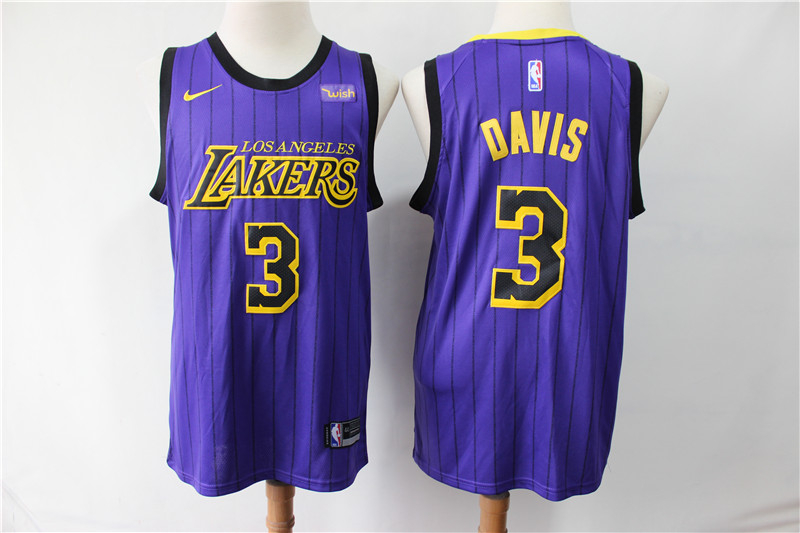 Lakers 3 Anthony Davis Purple City Edition Nike Swingman Jersey