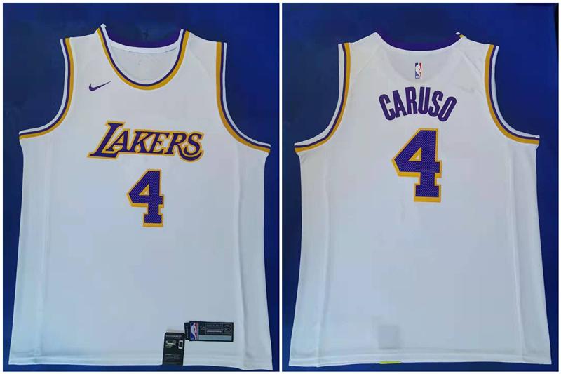 Lakers 4 Alex Caruso White Nike Swingman Jersey