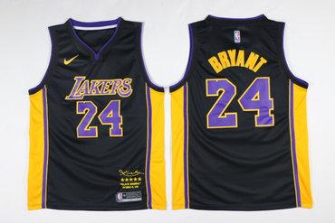 Lakers 8 Kobe Bryant Black Black Mamba Nike Swingman Jersey