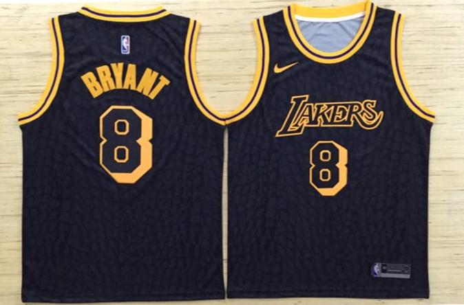 Lakers 8 Kobe Bryant Black Nike Swingman Jersey