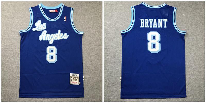 Lakers 8 Kobe Bryant Blue 1996 97 Hardwood Classics Jersey