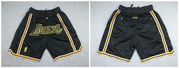 Lakers Black Just Don With Pocket Swingman Shorts