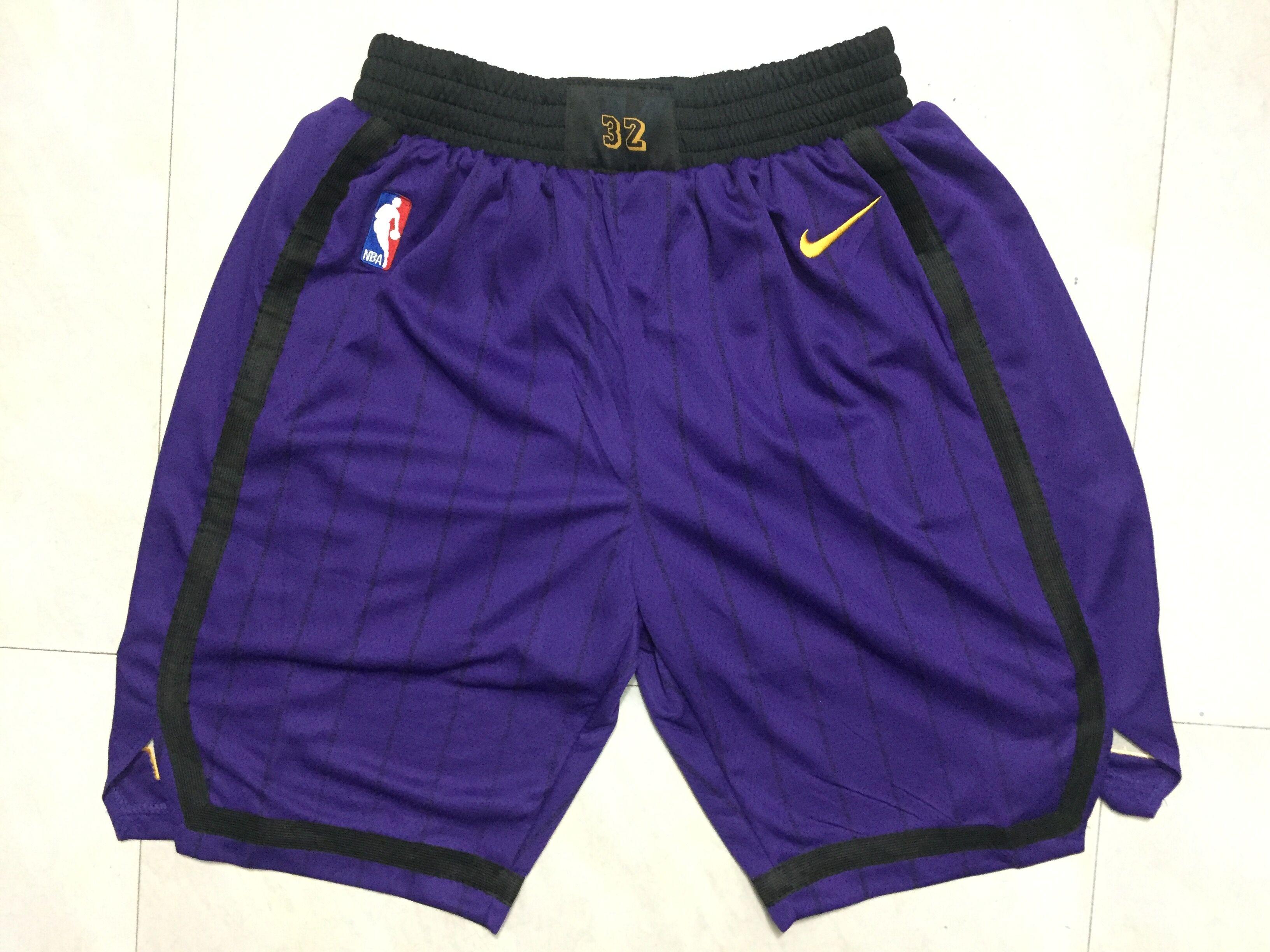 Lakers Purple 2018-19 City Edition Nike Swingman Shorts