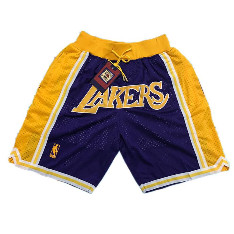 Lakers Purple Throwback Mesh Shorts