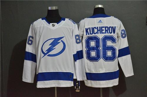 Lightning 86 Nikita Kucherov White Adidas Jersey