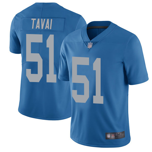 Lions #51 Jahlani Tavai Blue Throwback Men's Stitched Football Vapor Untouchable Limited Jersey