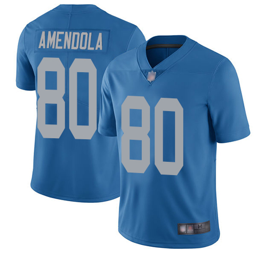 Lions #80 Danny Amendola Blue Throwback Men's Stitched Football Vapor Untouchable Limited Jersey