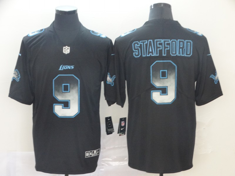 Lions 9 Matthew Stafford Black Arch Smoke Vapor Untouchable Limited Jersey
