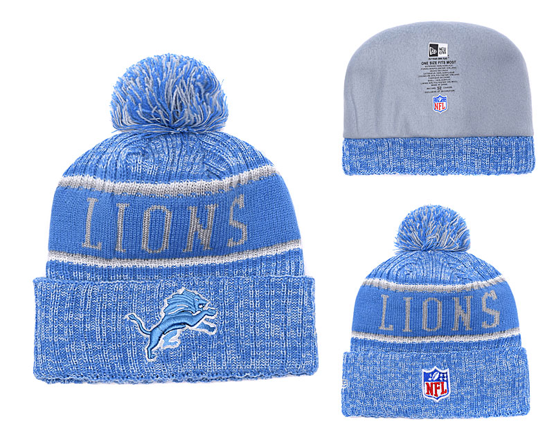Lions Team Logo Blue Knit Hat YD