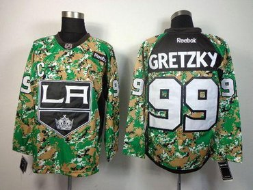 best sneakers eb45a 0ae09 Los Angeles Kings #99 Wayne Gretzky Camo Veterans Day ...
