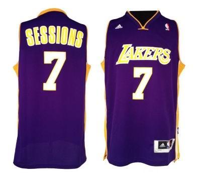 Los Angeles Lakers 7 Ramon Sessions purple JERSEYS