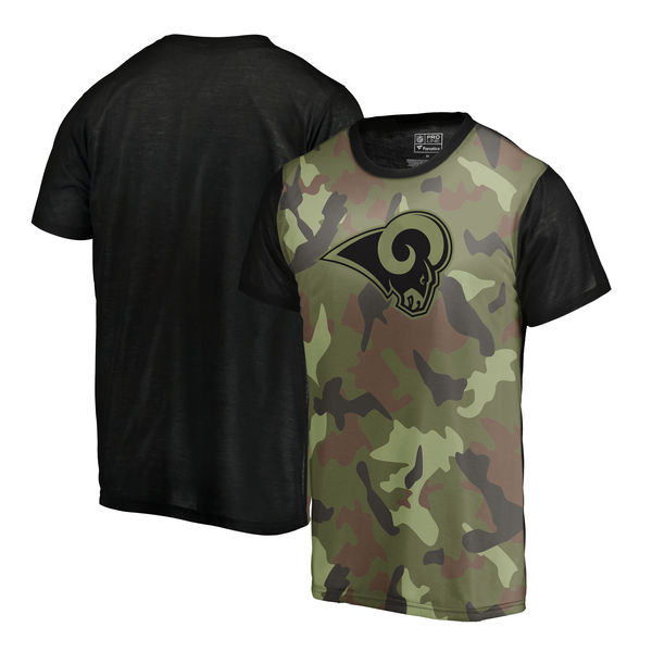 Los Angeles Rams Camo NFL Pro Line By Fanatics Branded Blast Sublimated T Shirt