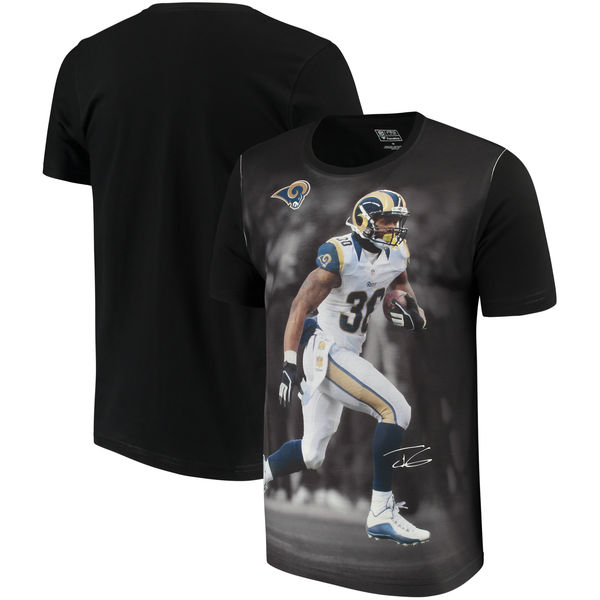 Los Angeles Rams Todd Gurley II NFL Pro Line By Fanatics Branded NFL Player Sublimated Graphic T Shirt Black