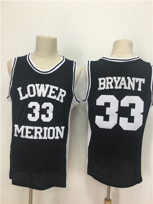 Lower Merion Aces 33 Kobe Bryant Black High School Mesh Basketball Jersey
