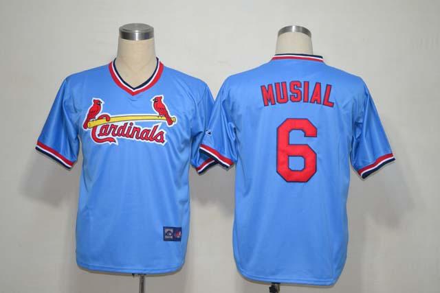 MLB Jerseys St.Louis Cardinals #6 Musial Blue