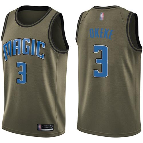 Magic #3 Chuma Okeke Green Basketball Swingman Salute to Service Jersey