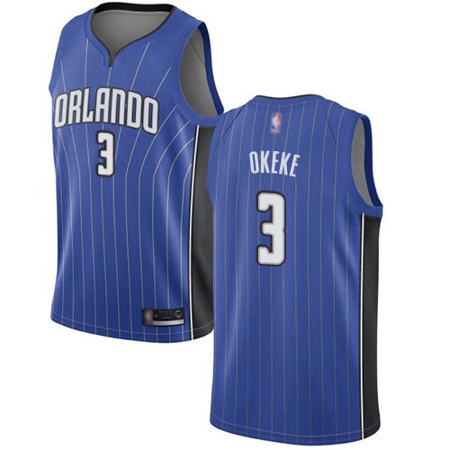 Magic #3 Chuma Okeke Royal Basketball Swingman Icon Edition Jersey