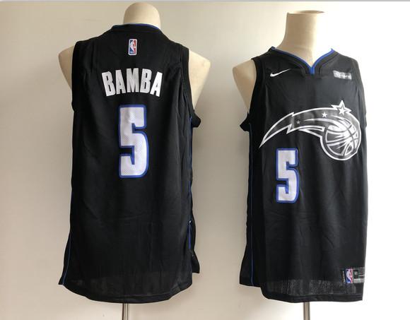 Magic 5 Mohamed Bamba Black 2018-19 City Edition Nike Swingman Jersey
