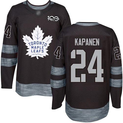 Maple Leafs #24 Kasperi Kapanen Black 1917-2017 100th Anniversary Stitched Hockey Jersey