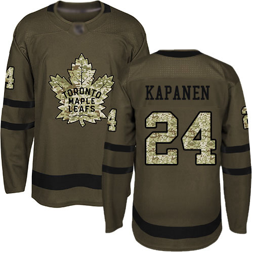 Maple Leafs #24 Kasperi Kapanen Green Salute to Service Stitched Hockey Jersey