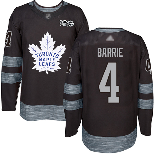 Maple Leafs #4 Tyson Barrie Black 1917-2017 100th Anniversary Stitched Hockey Jersey
