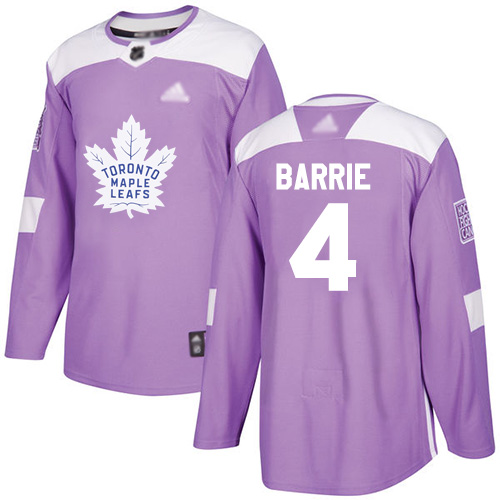 Maple Leafs #4 Tyson Barrie Purple Authentic Fights Cancer Stitched Hockey Jersey