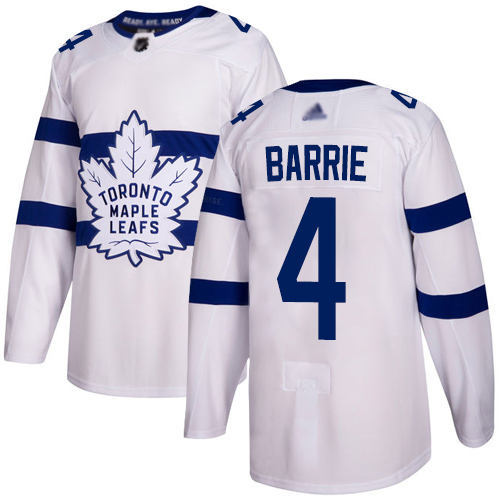 Maple Leafs #4 Tyson Barrie White Authentic 2018 Stadium Series Stitched Hockey Jersey