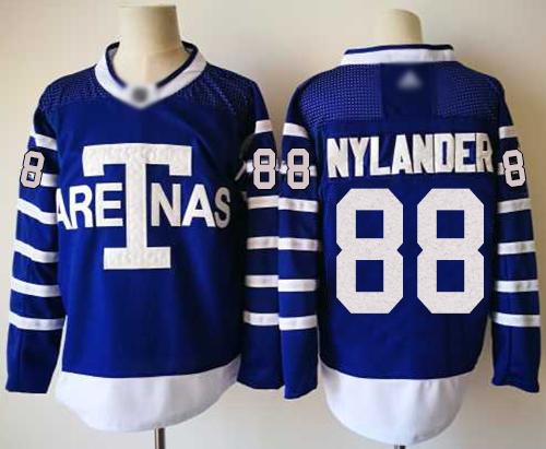 Maple Leafs #88 William Nylander Blue Authentic 1918 Arenas Throwback Stitched Hockey Jersey