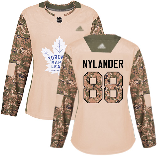 Maple Leafs #88 William Nylander Camo Authentic 2017 Veterans Day Women's Stitched Hockey Jersey