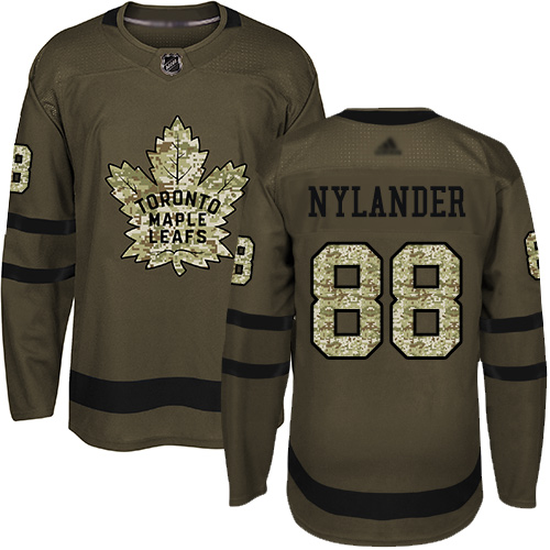 Maple Leafs #88 William Nylander Green Salute to Service Stitched Youth Hockey Jersey