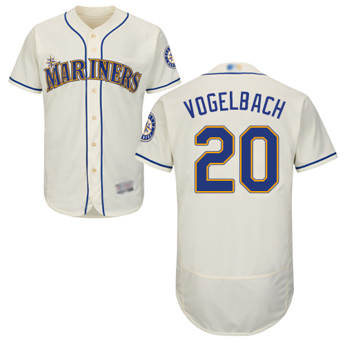 Mariners #20 Dan Vogelbach Cream Flexbase Authentic Collection Stitched Baseball Jersey