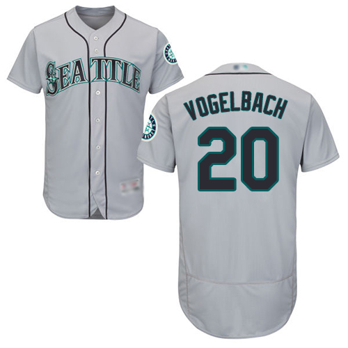 Mariners #20 Dan Vogelbach Grey Flexbase Authentic Collection Stitched Baseball Jersey