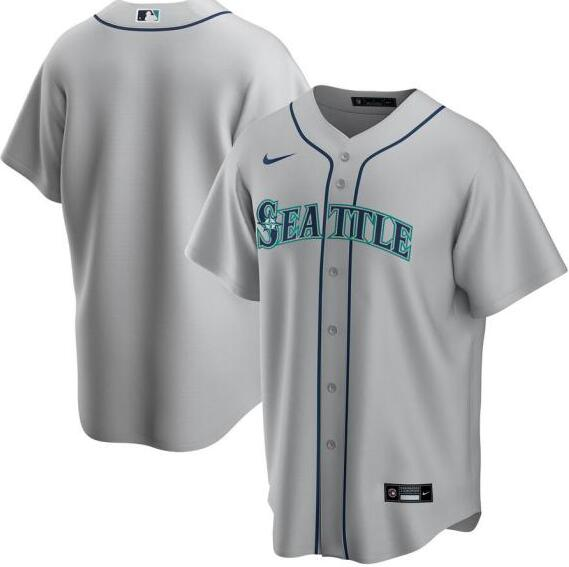 Mariners Blank Gray 2020 Nike Cool Base Jersey