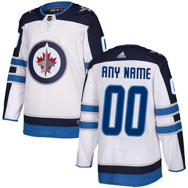 Men's Adidas Jets Personalized Authentic White Road NHL Jersey