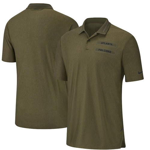 Men's Atlanta Falcons Salute to Service Sideline Polo Olive