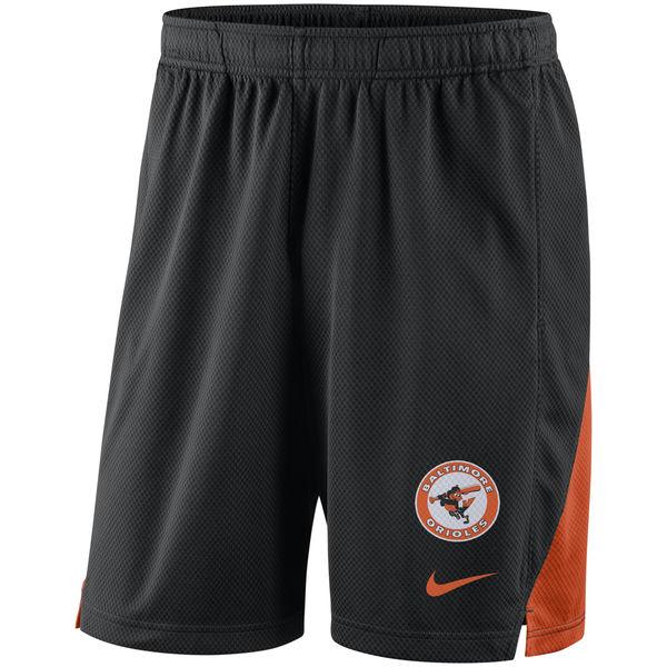 Men's Baltimore Orioles Nike Black Franchise Throwback Performance Shorts