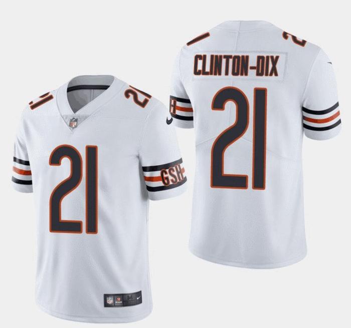 Men's Bears #21 Clinton-Dix Bears HaHa White Vapor Untouchable Limited Jersey