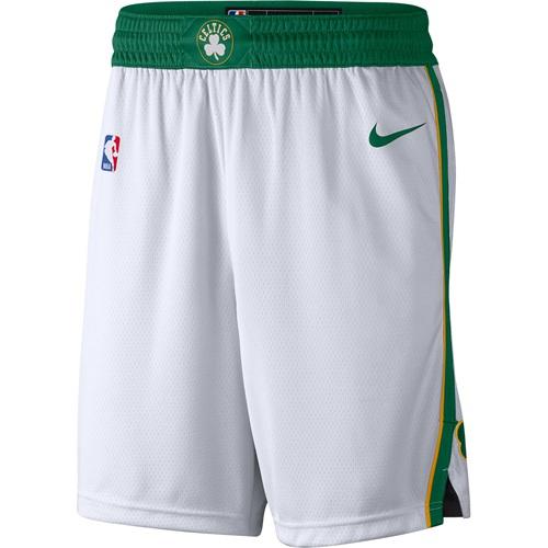 Men's Boston Celtics Nike White City Edition Swingman Performance Shorts