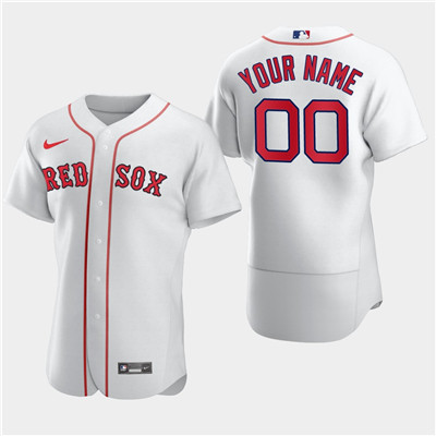 Men's Boston Red Sox Custom Nike White Flexbase Jersey