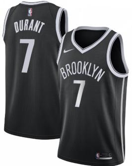 Men's Brooklyn Nets #7 Kevin Durant Nike Swingman Jersey