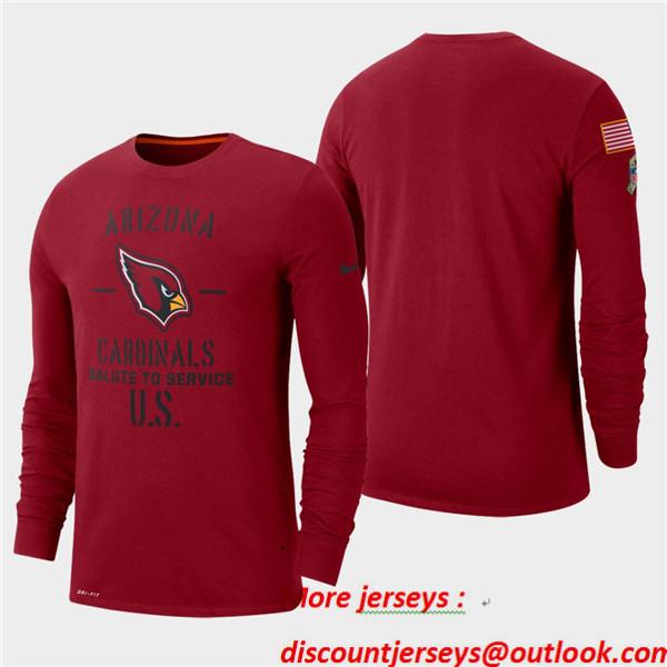 Men's Cardinals Cardinal 2019 Salute to Service Sideline Long Sleeve T-Shirt