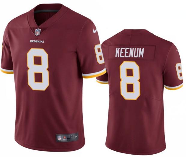Men's Case Keenum #8 Redskins Red Color Rush Limited Jersey