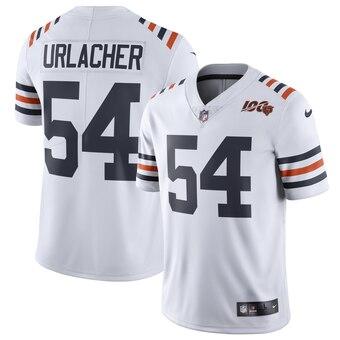Men's Chicago Bears #54 Brian Urlacher White 2019 100th Season Alternate Classic Limited Jersey