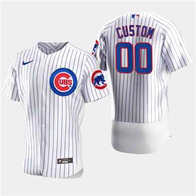 Men's Chicago Cubs Custom Nike White Flexbase Jersey